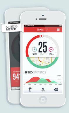 Bikester. Michał Sambora. Speed Meter. Colorful. Red & Green. Light. Minimal. Simple. Clean. Fresh. Modern. Big. Print. Numbers. Typography. Apple. iPhone. iOS. Next Generation. UI / UX. App. Notifications. Bike. Exercise. Action. Track. Statistics. Interface.