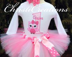 Baby Girl Birthday Outfit - Owl First Birthday Tutu Set - Cake Smash Outfit - Girl Birthday Tutu Owl First Birthday, Baby Girl Birthday Theme, Owl Birthday Parties, 1st Birthday Shirts, Baby Girl 1st Birthday, 1st Birthday Outfits, Birthday Ideas, Owl 1st Birthdays, Cake Smash Outfit Girl