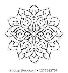 Easy Mandala, Mandalas flower for coloring on white backgrund. Mandala Drawing, Mandala Painting, Mandala Tattoo, Dot Painting, Mandala Art, Mandala Coloring Pages, Colouring Pages, Coloring Books, Embroidery Patterns
