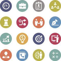 Icona di affari-Serie cerchio - illustrazione arte vettoriale