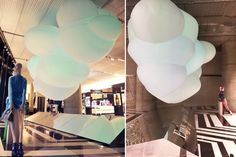 Floating Cloud at Aishti By The Sea campaign by Arte Vetrina Project, Middle East – UAE Retail Merchandising, Retail Interior, Retail Design, Art World, Uae, Middle East, Backdrops, Campaign, Clouds