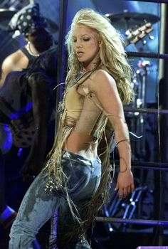 Britney performing at the 2001 American Music Awards.
