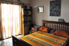 """Aalayam - Colors, Cuisines and Cultures Inspired!: Artist feature and a home tour - """"Traditional Indian with a dash of Kitsch"""" Indian Bedroom Decor, Traditional Bedroom Decor, Home Decor Bedroom, Bedroom Setup, Bedroom Ideas, India Home Decor, Warm Home Decor, Indian Interior Design, Interior Ideas"""