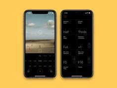 LightM Mobile App by Andrey Herasymenko Ios, Lens Aperture, Web Ui Design, Ui Design Inspiration, Mobile App Design, Design Reference, User Interface, Calculator, Digital