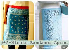 Project Inspiration: Bandana Apron  fun & easy craft for YW