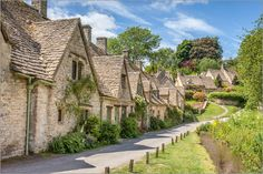 Poster Arlington Row in Bibury, Cotswolds, Gloucestershire (England)