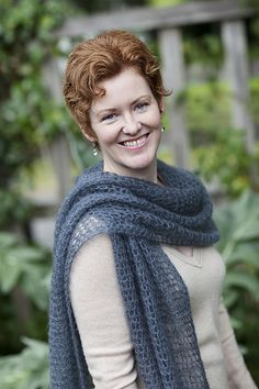 Kelly's Frothy Crocheted Scarf & Wrap by Churchmouse Yarns and Teas - pretty scarf with various size options, you choose how much yarn you'd like to use! #crochet