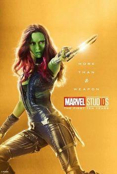 Marvel Studios More Than A Hero Poster Series Gamora Marvel Avengers, Marvel Comics, Heroes Dc Comics, Marvel Fanart, Films Marvel, Bd Comics, Marvel Women, Marvel Heroes, Captain Marvel