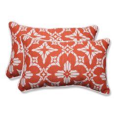 Outdoor Aspidoras Coral Rectangular Throw Pillow, Set of 2