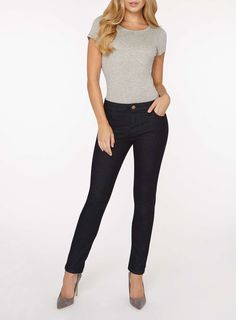 Womens Indigo 'Ashley' Straight Leg Jeans- Blue