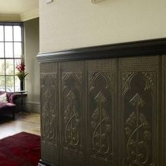 1 roll of Lincrusta dado panels incorporating Art Nouveau style design