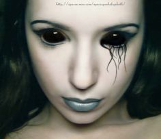 black out contact lens for my halloween costume