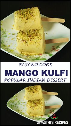 Sweet Dishes Recipes, Snack Recipes, Cooking Recipes, Indian Dessert Recipes, Indian Sweets, Mango Kulfi, Jain Recipes, Kulfi Recipe, Coconut Recipes