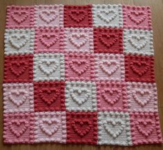 Ravelry: Heart Motifs Baby Blanket by Peach. Unicorn