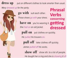 Phrasal Verbs concerning getting dressed