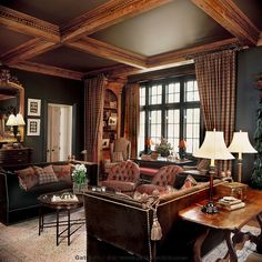 Country living room....want to use this for my kitchen/dining room