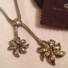 John Hardy 925 Silver & 18K Gold Necklace John Hardy AYU Dot Collection Necklace in Sterling Silver & 18K Gold. Very Rare Piece John Hardy Jewelry Necklaces