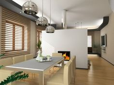 the modern interior design with fireplace Interior Design Colleges, Best Interior Design, Interior Decorating, Cocinas Feng Shui, Style Asiatique, Interior Design Magazine, My Dream Home, Decoration, Indoor