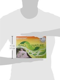 Bag To Nature Lawn and Leaf Biodegradable Waste Bags, 10 Count