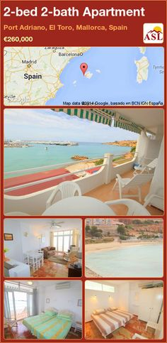 2-bed 2-bath Apartment in Port Adriano, El Toro, Mallorca, Spain ►€260,000 #PropertyForSaleInSpain