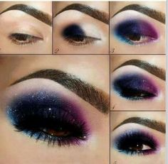 Aurora Boreal eyes make up
