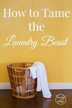 4 Easy Ways to Tame the Laundry Beast. No more piles of laundry everywhere.