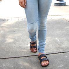 Double Buckle Sandals Refresh Black  Silver Buckles Shoes Sandals