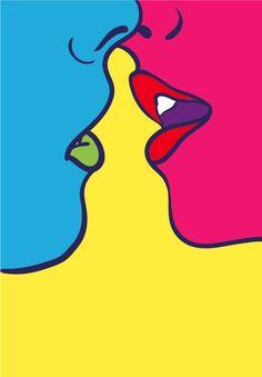 My work / Kiss by Adrià Molins. Original photo by Anna Morosini — Designspiration