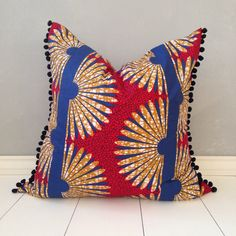 African pillow cover 22 x 22 pillow cover home decor by JuneThirty
