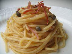 La Trappola Golosa : Spaghetti al pesto di prosciutto e melone