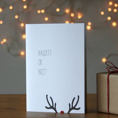 'Naughty or Nice?' Christmas Card
