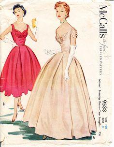McCalls 9533 1950s Sewing Pattern  Draped Bodice by retromonkeys, $115.00