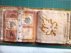 Fabric book page, Kate Cooke