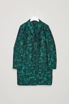 COS image 2 of Tailored jacquard coat in Green