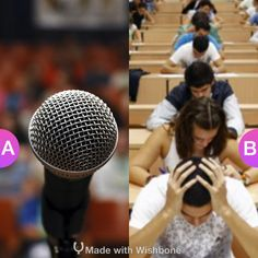 What's more stressful...public speaking or taking an exam? Make yours @ http://bit.ly/Wish2