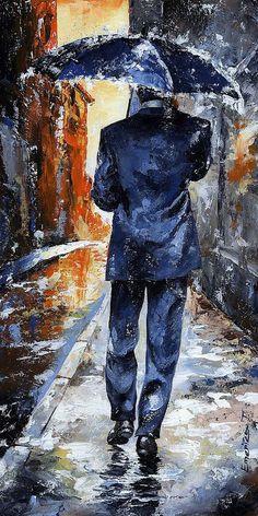 Rain Day #20 Painting  - Rain Day #20 Fine Art Print