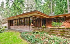 Brandes home. Sammamish, Washington. 1952. Usonian Style. Frank Lloyd Wright
