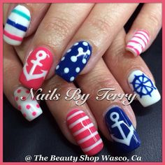 seriously, i want to try  just about every nautical themed manicure