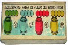 PARCHIS, recuerdo la caja, la teníamos, Siempre guardaba los cubiletes en su posición de color según tapa