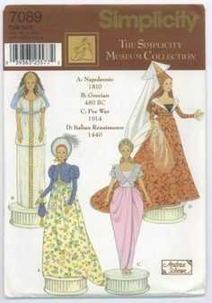 Free Copy of Pattern - Simplicity 7089
