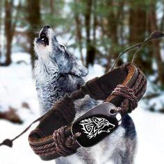 Buy Roar Wolf Animal Backer Woven Rope Leather Unisex Bracelet Yak Bone Carved,Fashion bracelet For Women Man drop shipping Bracelet Viking, Viking Jewelry, Wolf Jewelry, Cute Jewelry, Glass Jewelry, Men's Jewelry, Jewelry Ideas, Geek Jewelry