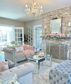 Romantic Living Room, Cute Living Room, Glam Living Room, Living Room Decor Cozy, Elegant Living Room, New Living Room, Design Exterior, Luxury Dining Room, Living Room Inspiration