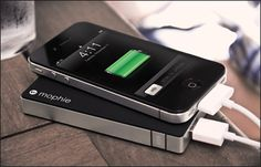 Mophie Juice Pack Powerstation--an external power source to charge iPhones, iPods & iPads