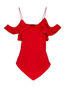 Ruffle-sleeved diamond-hem cami  by Juan Carlos Obando | Shop now at #MATCHESFASHION.COM