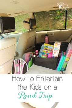 These are some amazing Road Trip ideas for kids! Great ideas for entertaining kids in the car and most of them are not electronics but crafts and fun creative ideas. #RoadTrip #FamilyTravel #Kids #Car #Entertain #Activities #RealCoake