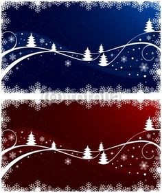 Abstract Christmas background set