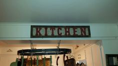 Made my own sign with burlap n pallet wood!!!!