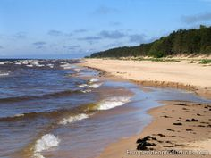 Beach in Latvia with the Baltic Sea