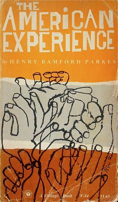 "Book cover for ""The Amercian Experience"" (1959) designed & illustrated by Ben Shahn (1898-1969). via New Documents on Etsy"