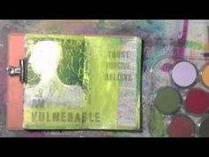 PanPastels Sealed with Color Bloom - Now I have 2 ways that I really like for sealing Pan Pastels in my art journal!  A few months ago,  a friend showed me how to use the Gelli Plate and gel medium to seal PanPastels.  You can see the video I made showing Mary Anne's technique here.